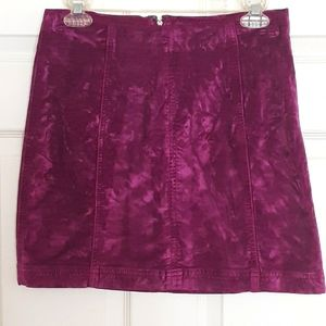 Free People Modern Femme Crushed Velvet skirt.